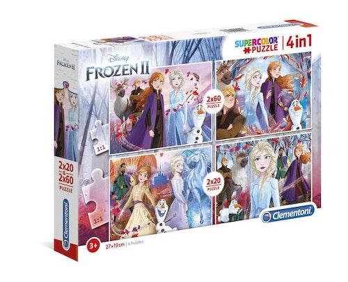 Fyra Pussel Disneys Frost 2 2x20 och 2x60 bitar