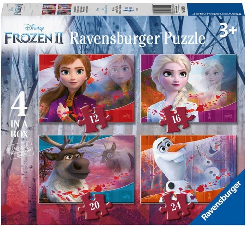 Fyra Pussel Disneys Frost 2 12+16+20+24 bitar