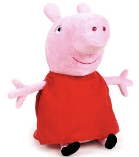 Greta Gris gosedjur i röd klänning 24cm