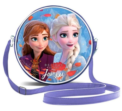 Rund handväska Frost 2 - Elsa och Anna