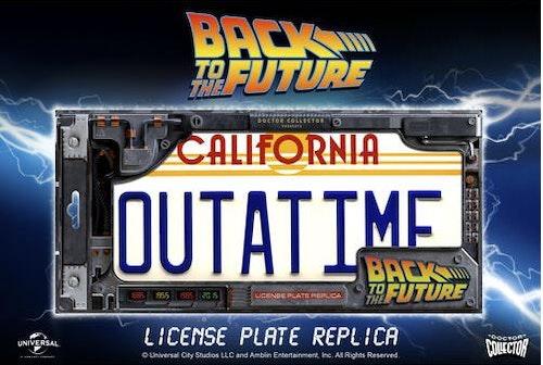 Tillbaka till framtiden/Back to the Future DeLorean Outatime - Registreringsskylt replika