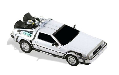 NECA Back to the Future Diecast Time Machin vehicle 15cm