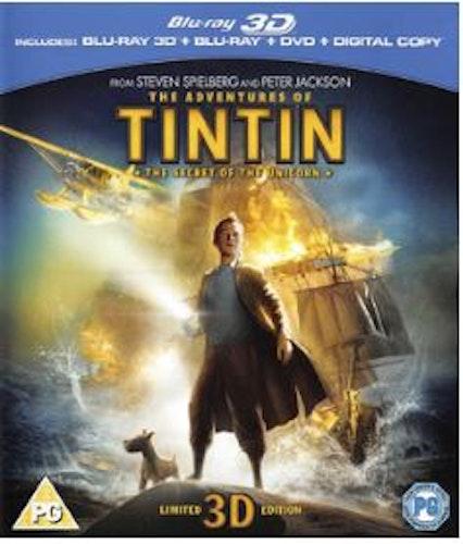 Tintins äventyr: Enhörningens hemlighet (Blu-ray 3D) import