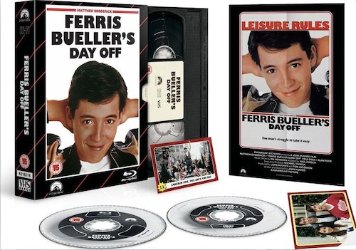 Ferris Buellers Day Off - Limited Edition VHS Collection DVD + Blu-Ray Specialutgåva (import)