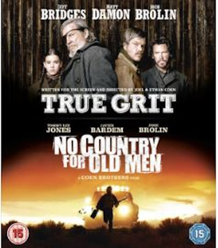 True Grit+No Country For Old Men bluray (import med svensk text)