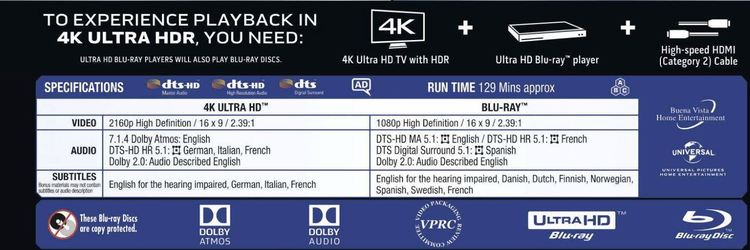 Glass - 4K Ultra HD (Inkl Bluray) import med svensk text