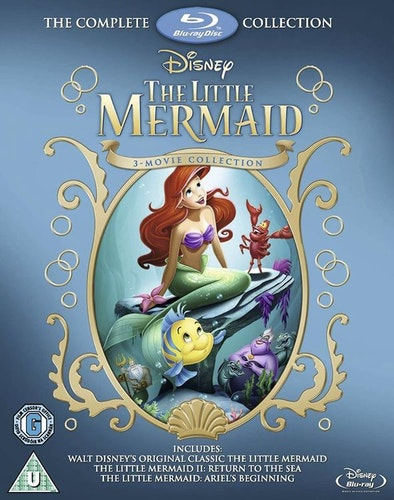 Den lilla sjöjungfrun 1-3 (Blu-ray) (Import)
