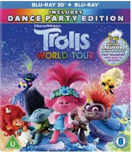 Trolls World Tour 3D Blu-Ray (import)