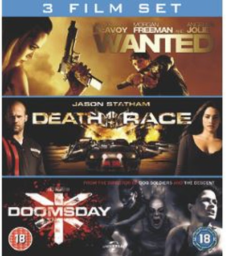 Wanted+Death Race+Doomsday box Blu-Ray (import)