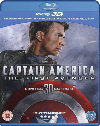 Captain America - The First Avenger 3D Blu-Ray (import med svensk text)