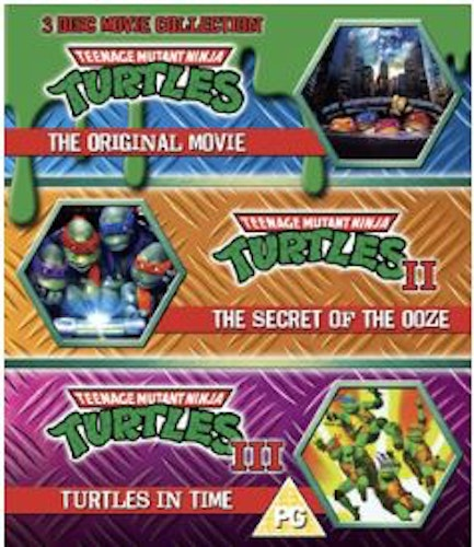 TMNT Teenage Mutant Ninja Turtles (3 Films) Movie Collection Blu-Ray (import)