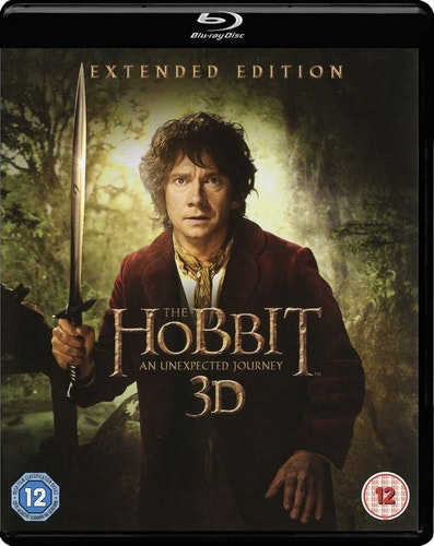 Hobbit en oväntad resa 3D bluray extended edition (import)