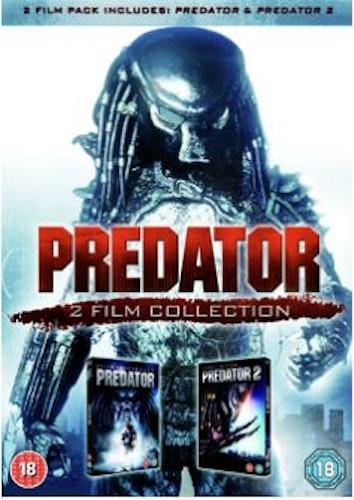 Rovdjuret/Predator 1+2 DVD (import med svensk text)