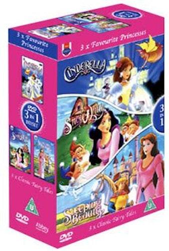 Askungen+Snövit och de sju dvärgarna+Törnrosa DVD (import)