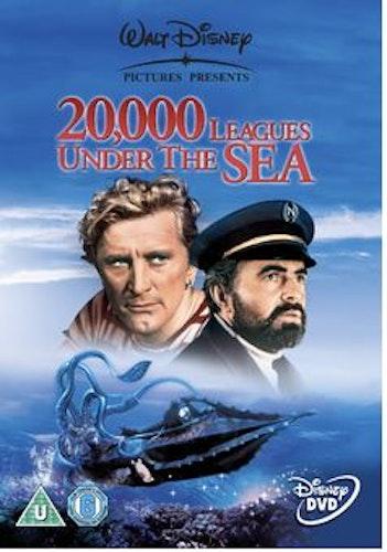 En världsomsegling under havet/20.000 leagues under the sea DVD (import) från 1954