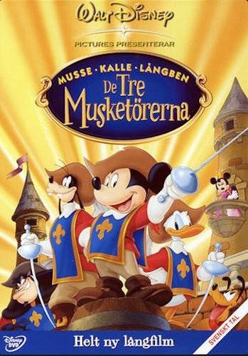 De Tre Musketörerna (Musse, Kalle, Långben) DVD