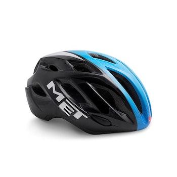MET Helmet Road Idolo M (52-59 cm) Black Shaded Cyan/Glossy