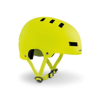 MET Helmet Youth YoYo S (51-55 cm) Safety Yellow/Matt