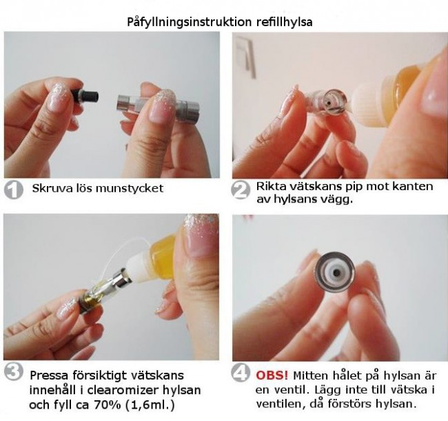 XEO Clearomizer Refillhylsor 3-pack