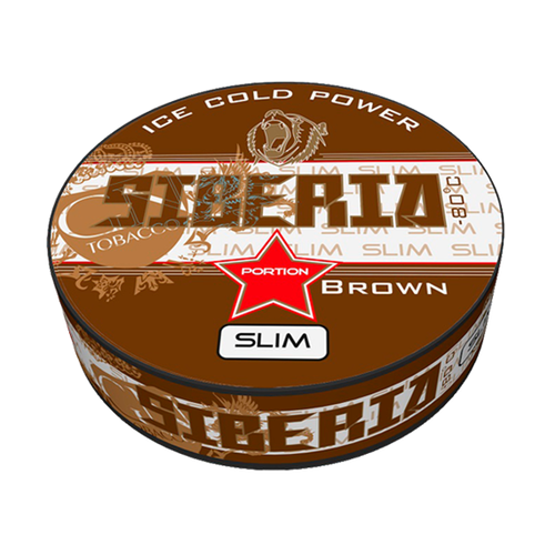 Siberia -80 Degrees Brown Slim Portionssnus