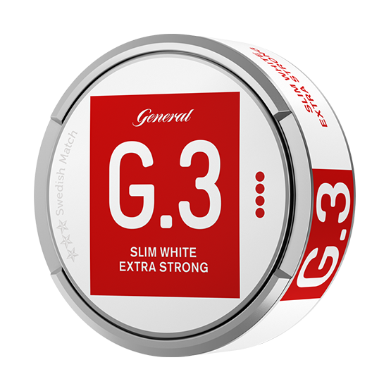 General G.3 Extra Strong Slim White Portionssnus