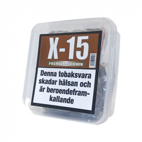 X-15 Premium Brown Stark Portionssnus