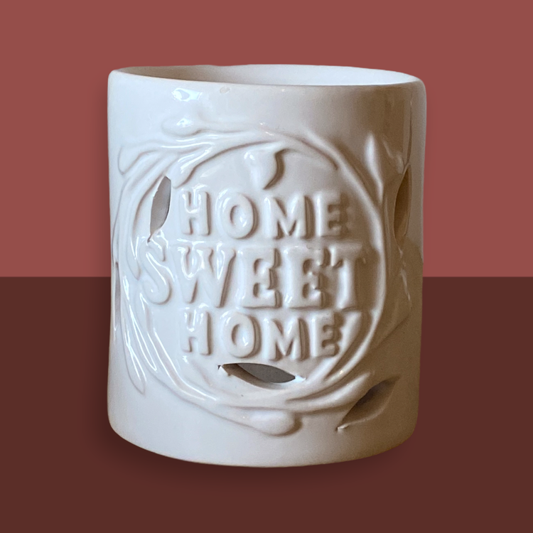 Vit aroma lykta Home Sweet Home