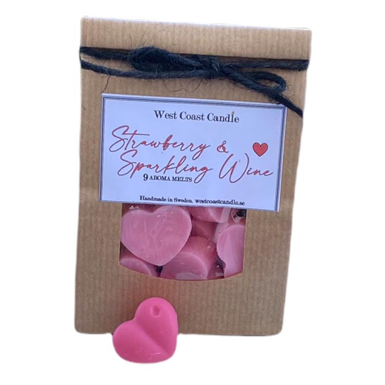 `Strawberry & Sparkling Wine` Aroma hjärtan