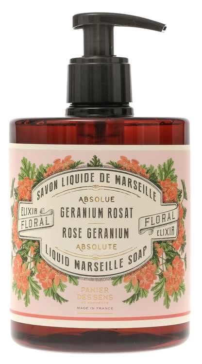 Marseille Handtvål Rose Gerannium 500ml