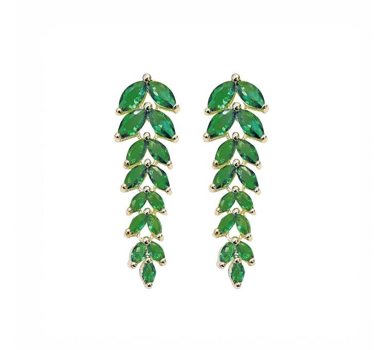 Örhänge Fussilli grön