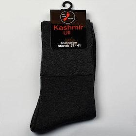Kashmir Ullstrumpa med lös resår grå