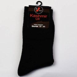 Kashmir Ullstrumpa med lös resår svart