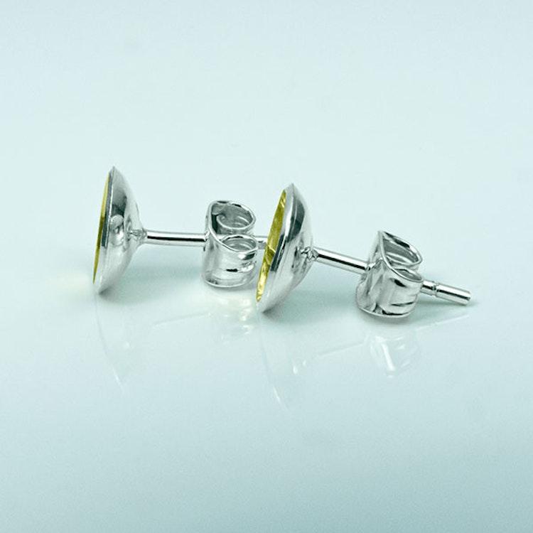Silver örhängen - Guldplätering