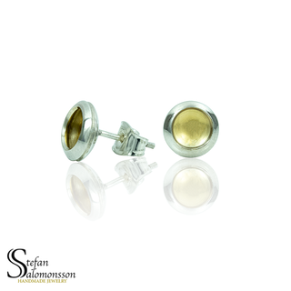 Silver earrings with gold plating - 9mm  ø
