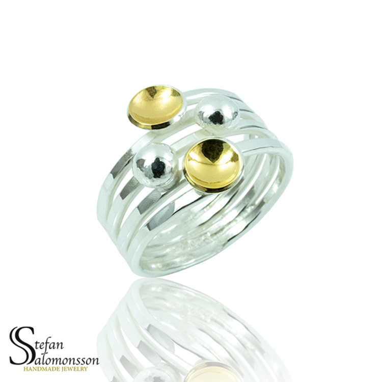 Silver ring: Gold-plated