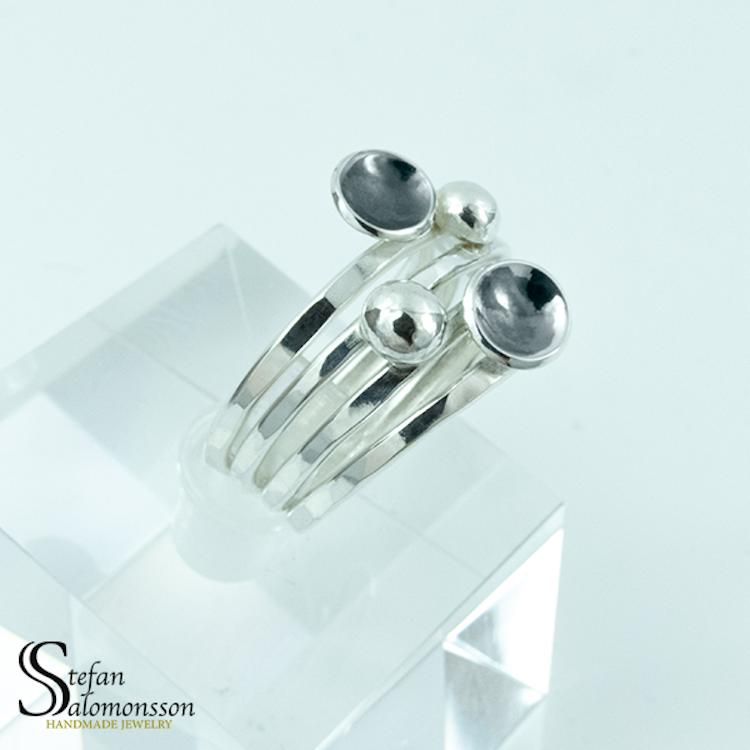 Silverring: Oxiderad