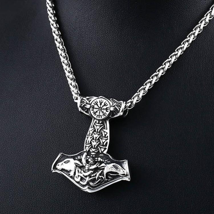 tors hammare halsband silver