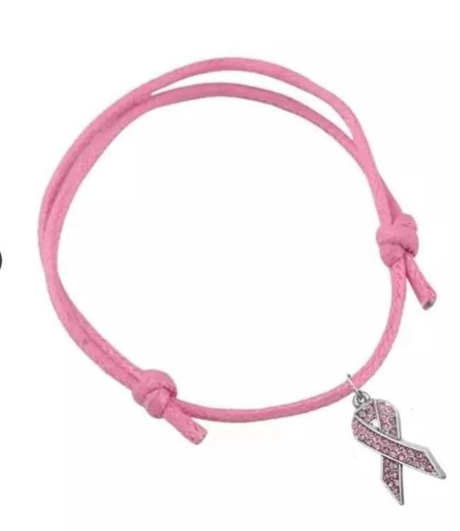 Rosa armband   justerbart