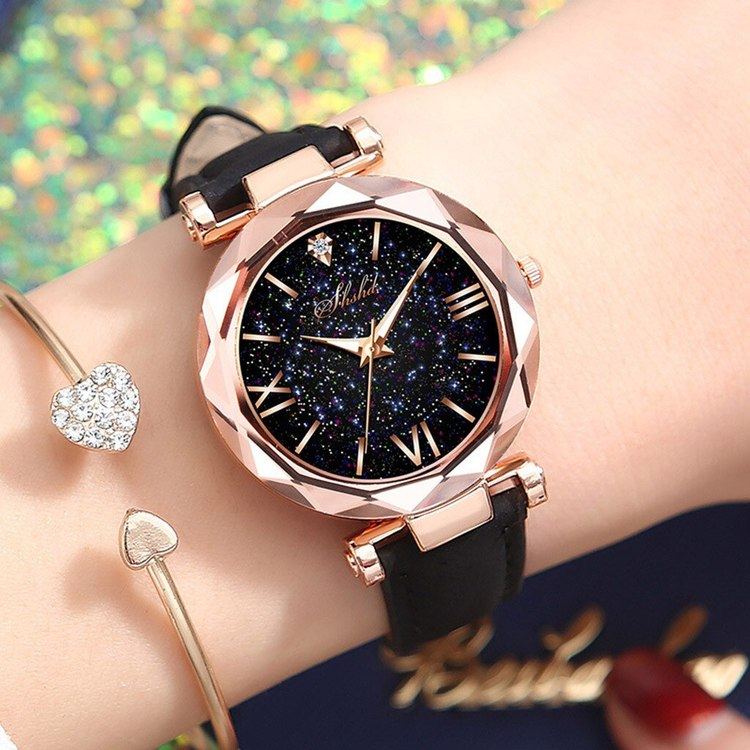 klocka med svart band