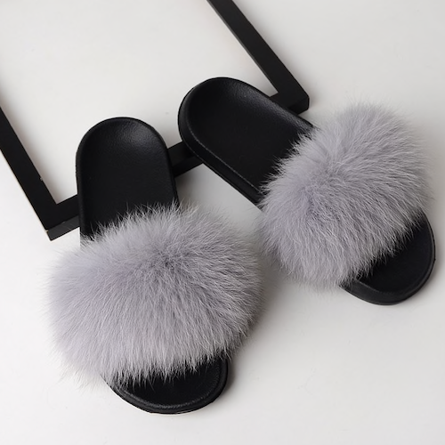 PÄLS TOFFOR  /  SLIPPERS    GRAY