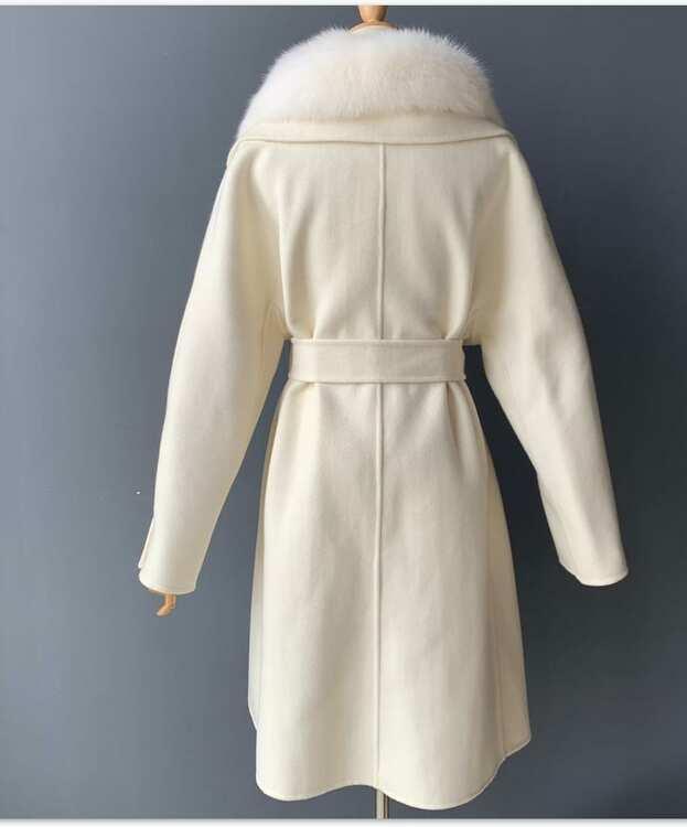 GINA  COAT  CREAM WHITE