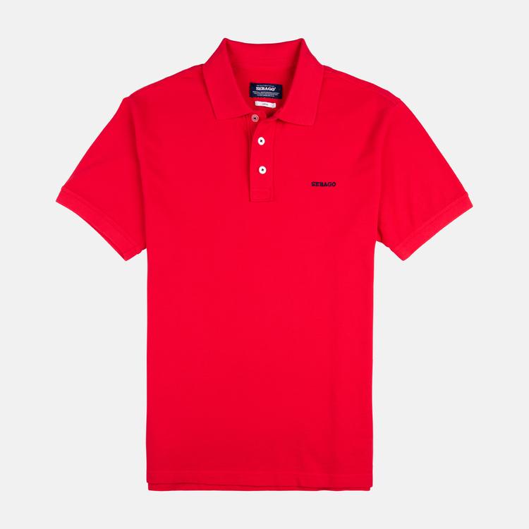 Sebago - Outwashed Polo Pique Red