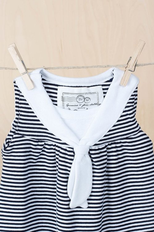 EM - Matros Dress White/ Navy