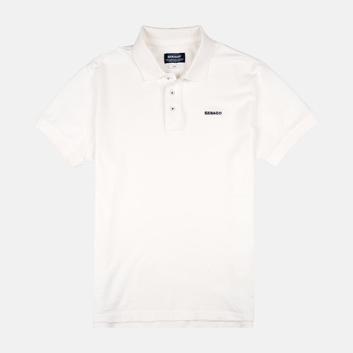 Sebago - Outwashed Polo Pique White