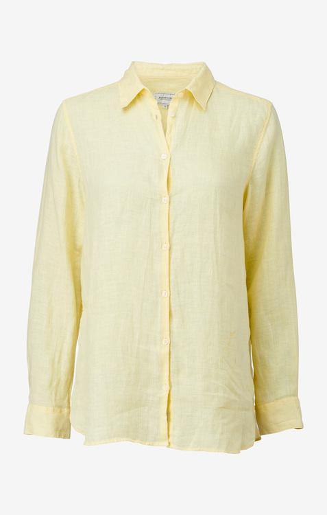 Boomerang - Lina Linen Shirt Soft Sunshine