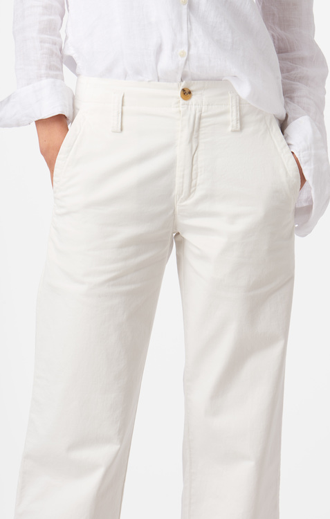 Boomerang - Frida Cropped Trousers Offwhite