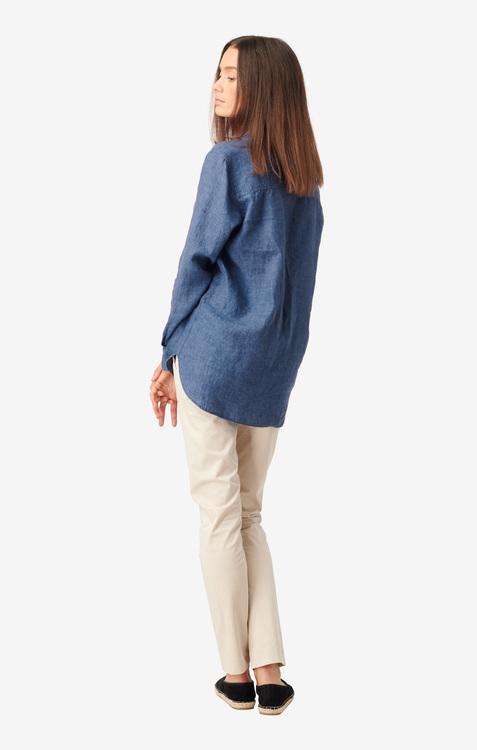 Boomerang - Lina Linen Shirt Dark Indigo