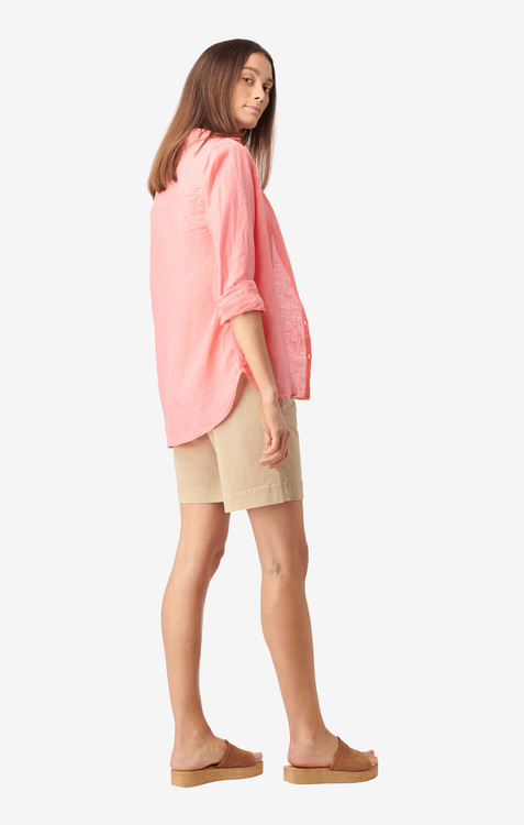 Boomernag - Lina Linen Shirt Wild Strawberry