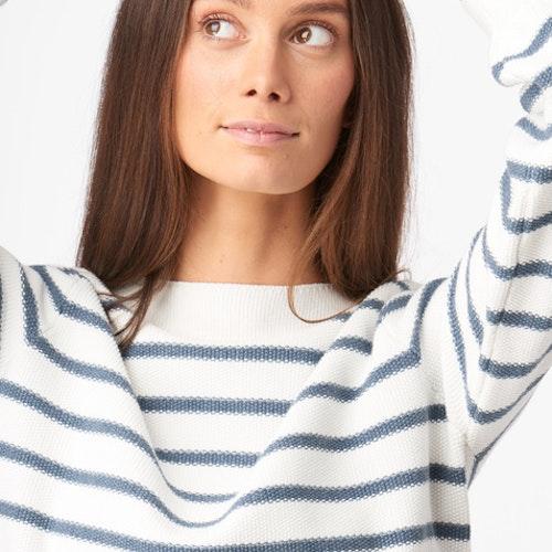 Boomerang - Melissa Stripe Organic Cotton Offwhite