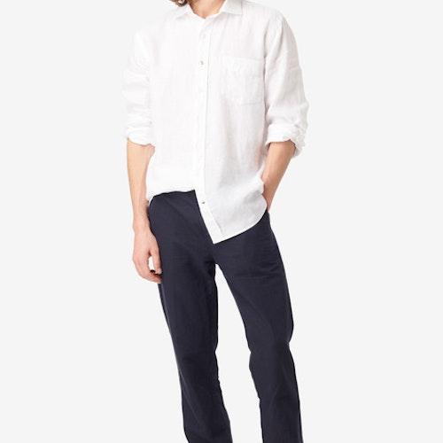 Boomerang - Linus Linen Shirt White
